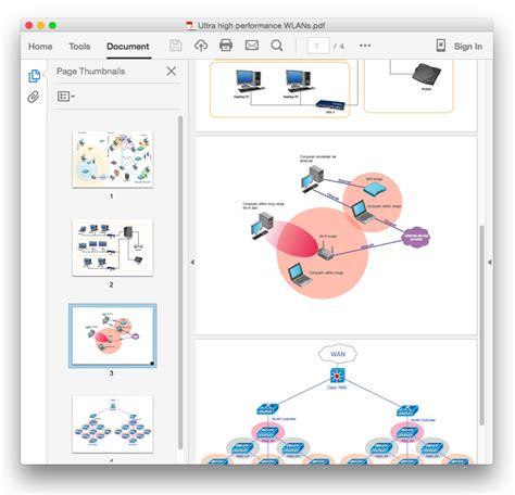 create a visio wireless network diagram conceptdraw helpdesk convert computer network diagram