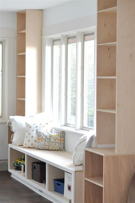 diy window seat  built ins projects started house