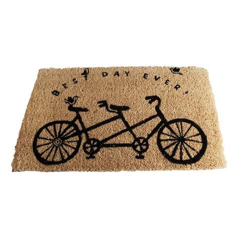 tag best day bicycle 18 in x 30 in coir door mat