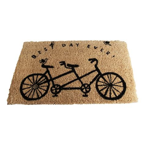 Tag Best Day Ever Bicycle 18 In X 30 In Coir Door Mat