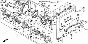 Honda Atv 1997 Oem Parts Diagram For Front Final Gear
