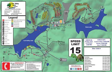 resort map lost valley lake resort