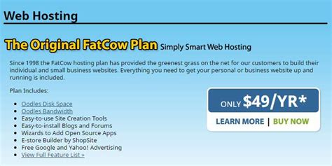 fatcow review good   wordpress hosting