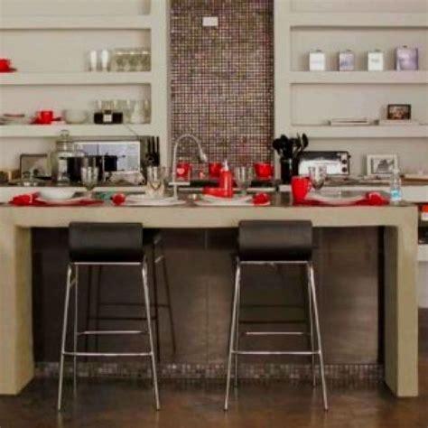 Cocina hecha de concreto Cocina de concreto Barras de
