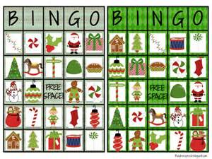 christmas bingo cards for large groups grcom info