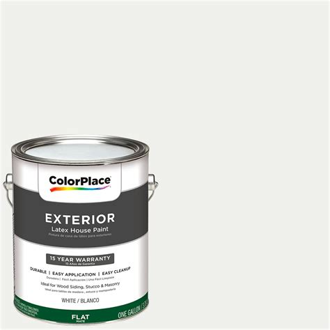 colorplace exterior white flat paint 1 gallon with scotchblue painter s tape original multi use