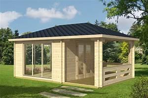 Gartenhaus Mit Terrasse : gartenhaus mit terrasse anette 19m 50mm 4x6 hansagarten24 ~ Whattoseeinmadrid.com Haus und Dekorationen