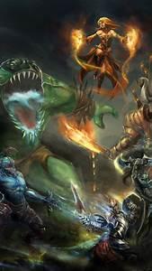 Wallpaper, Dota, 2, Game, Characters, Hero, Monster, Fantasy, Art, Fire, Ice, Magic, Lightning