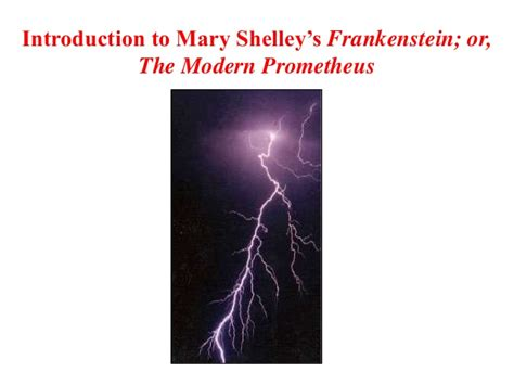introduction to shelley s frankenstein