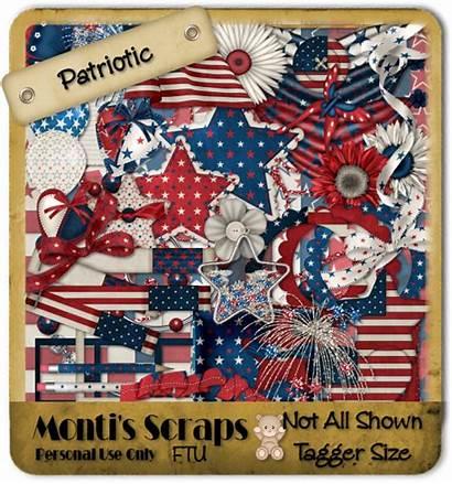 Ftu Scrap Kit Patriotic Monti Playground Pixel