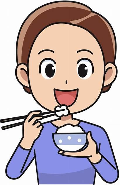 Eating Eat Clipart Transparent Rice Cartoon Kid