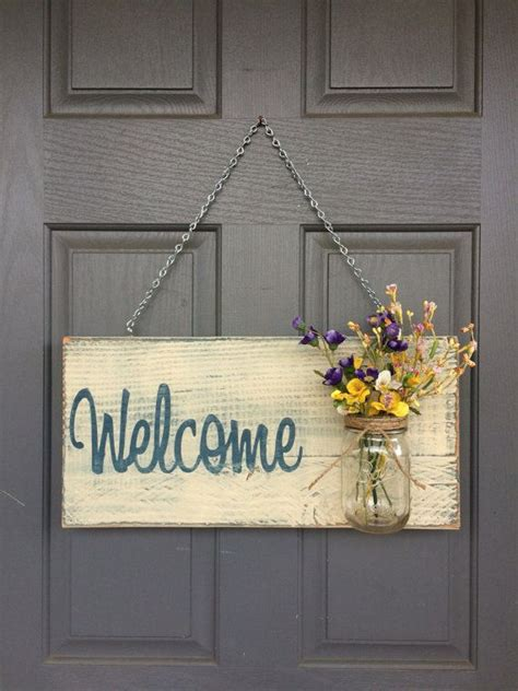 front door sign rustic  sign  guests sign