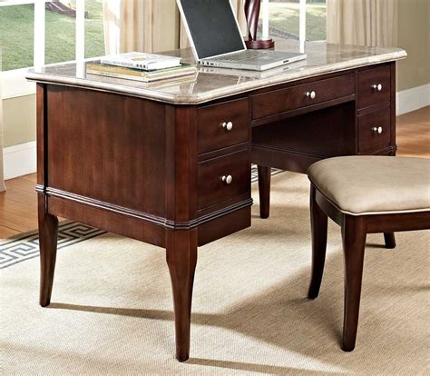 white marble desk buy marseille marble top writing desk by steve silver from