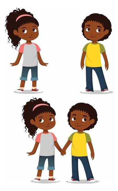 African American Clipart Boy Children Vector Child