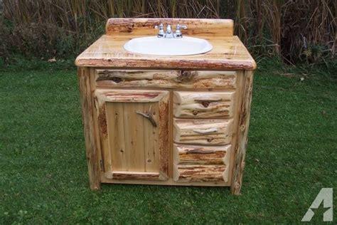 rustic bathroom vanities for sale log home rustic cedar bathroom vanity drummond island