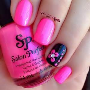 Pink and black nail art designs g