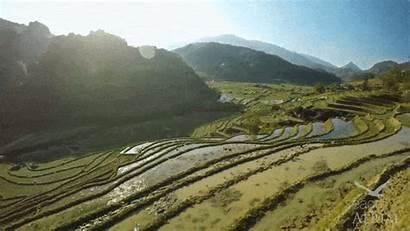 Sapa Vietnam Valley Sunshine Water Mountain Terraces