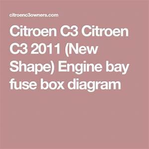 Citroen C3 2011  New Shape  Engine Bay Fuse Box Diagram
