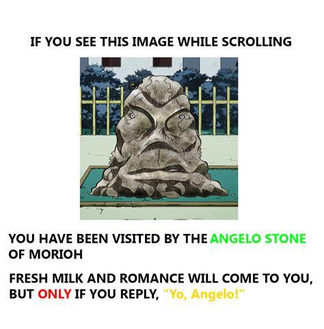 yo angelo jojos bizarre adventure   meme