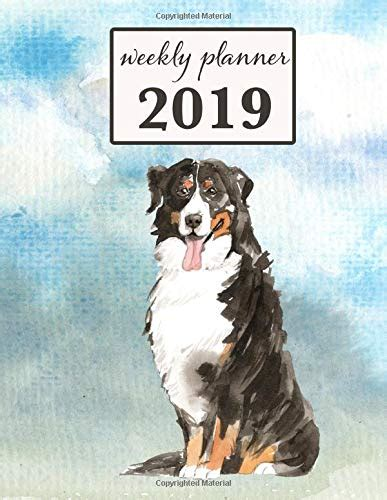 weekly planner bernese mountain dog month weekly habit tracker