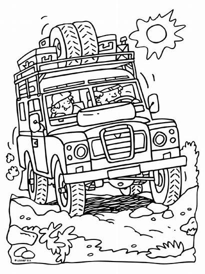 Coloring Landrover Safari Rover Defender Range Kleurplaten