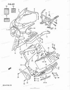 Suzuki Motorcycle 1990 Oem Parts Diagram For Cowling