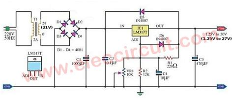 my variable power supply using lm317 elec circuit