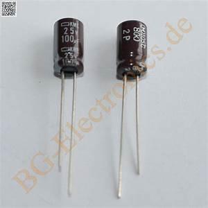 Schaltkreise Berechnen : 50 x 100 f 100uf 25v 105 rm2 5 elko kondensator capacitor ~ Themetempest.com Abrechnung