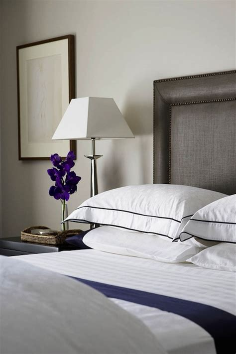 white and navy bedding contemporary bedroom denai