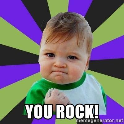 Rock Baby Meme - you rock victory baby meme meme generator
