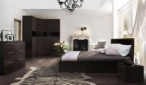 Elegant White Bedroom With Dark Furniture 24 With A Lot ...