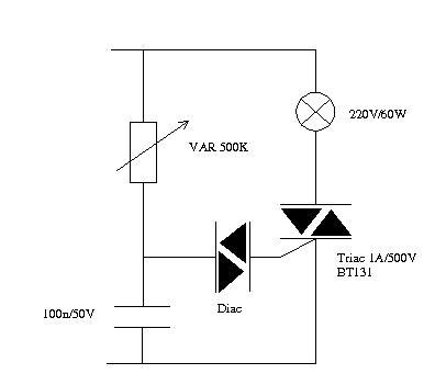 Discrete Lamp Dimmer Circuit How Choose Component
