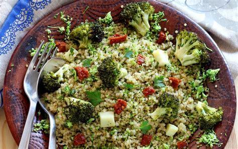 recette salade de quinoa semoule de brocolis