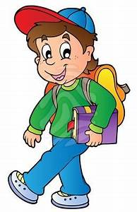 Child Walking to School Clipart (19+)