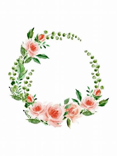Wreath Watercolor Clipart Floral Flowers Flower Greenery