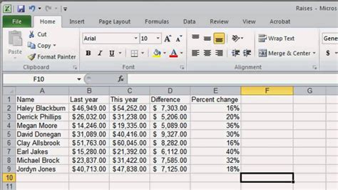 how to make a basic spreadsheet in excel 2010 detail for