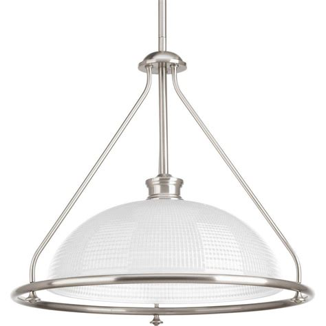 progress lighting lucky collection 1 light brushed nickel