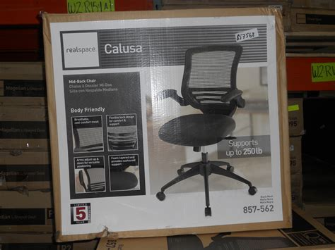 realspace calusa mesh mid back chair black 857562 chairs