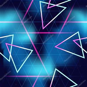 80's futuristic seamless neon background — Stock Vector ...