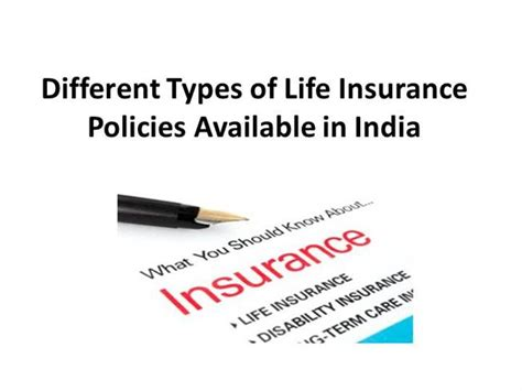 Different Types Of Life Insurance Policies Available In