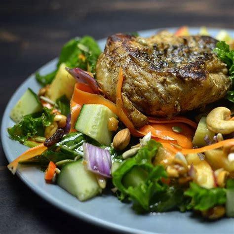 garden grouper vide sous mix salad deep fried giant dinner cooked tonight steak