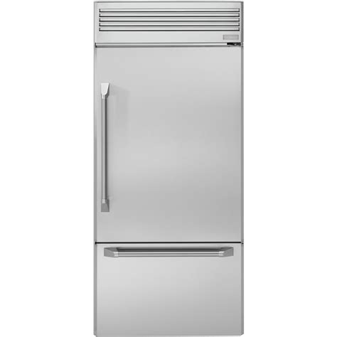 monogram  cu ft bottom freezer refrigerator stainless steel  pacific sales