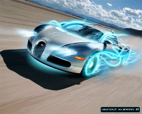 Blue Gold Cool Car Wallpapers by Bugatti Veyron Cars Wallpapers