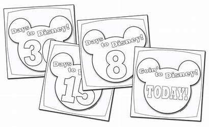 Countdown Disney Calendar Coloring Pages Vacation Cruise