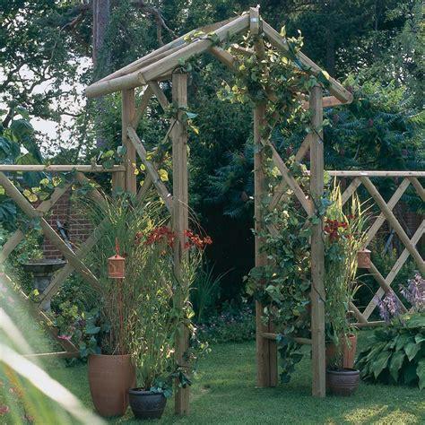 rustic apex wooden garden rose arch archway westmount living