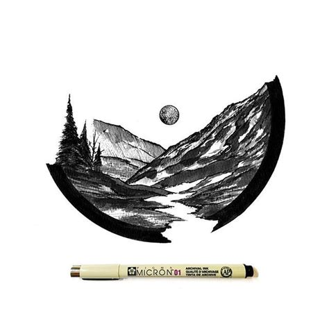 images    ink  pinterest mountain
