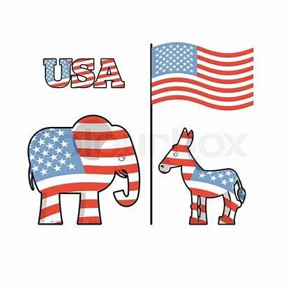 Symbols Donkey Elephant Democrats Republicans Political Republican