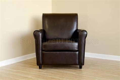 brown color contemporary leather club chair
