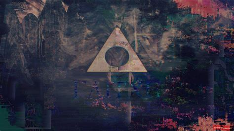 glitch art webpunk abstract triangle wallpapers hd