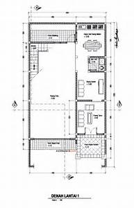 Denah Rumah dan Ruang Usaha Ruko atau Rukan Lantai 1